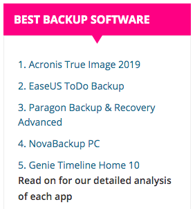 Best backup options