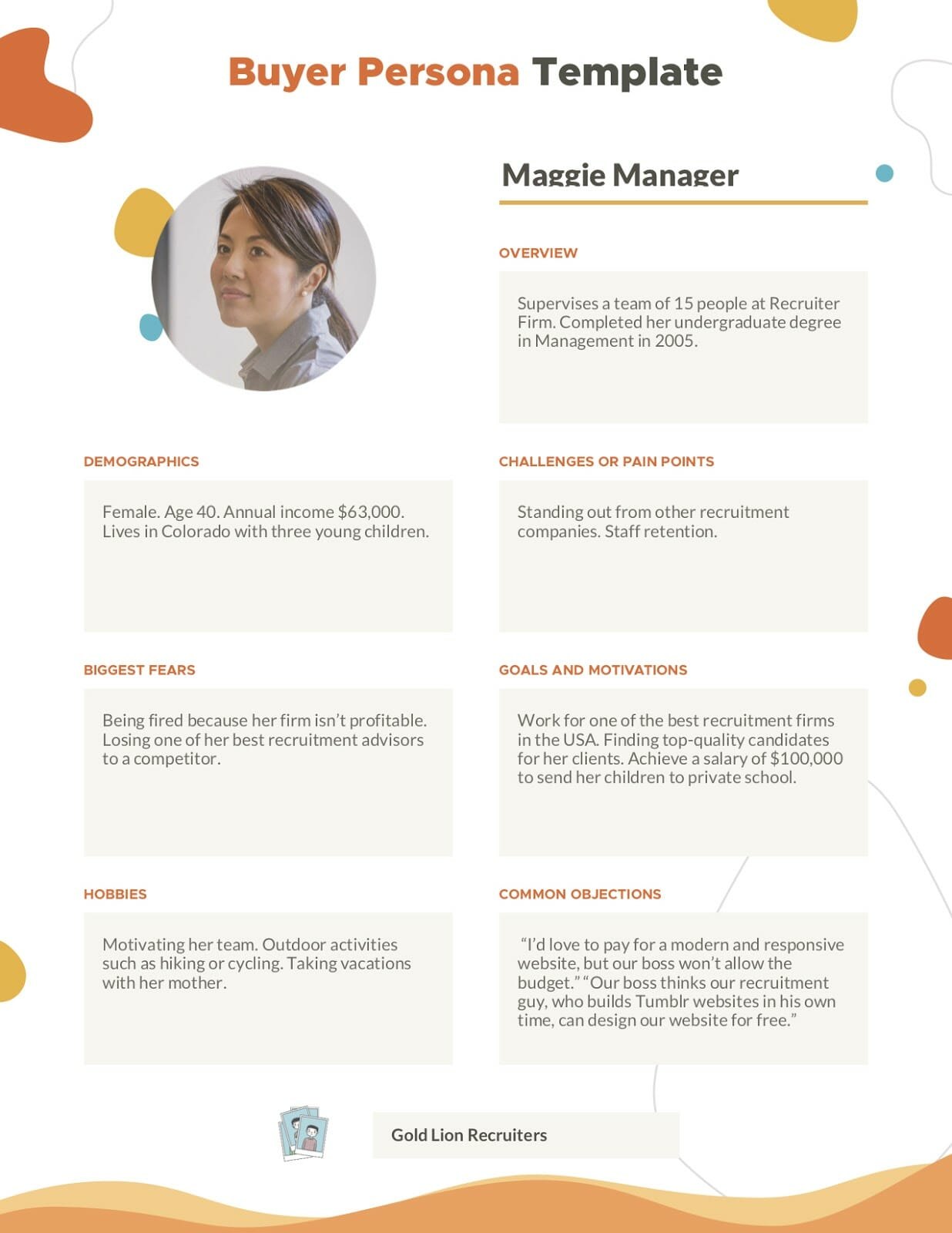 Buyer Persona Maggie Manager 1