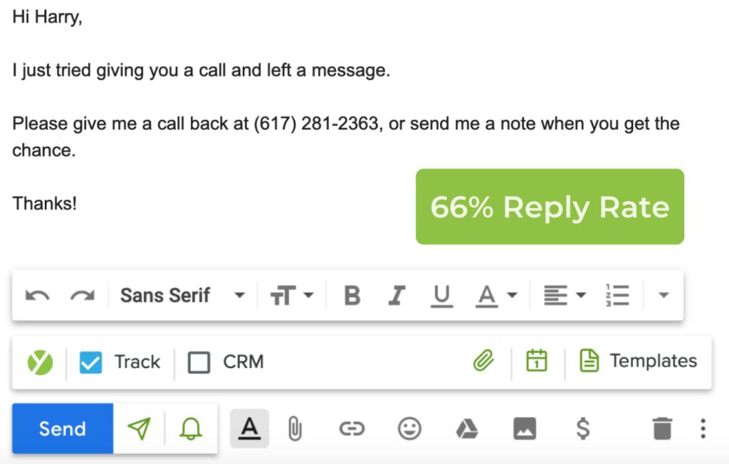 E-mail di follow-up Sì