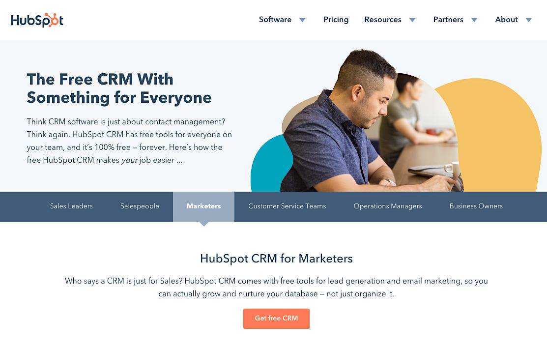 HubSpot CRM tool