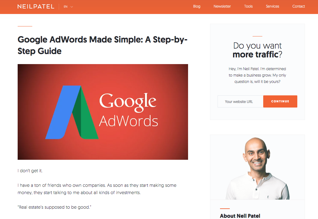 Neil Patel Guida di Google AdWords