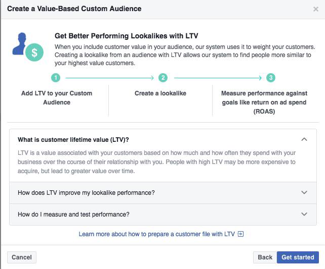 lifetime value custom audience facebook 4