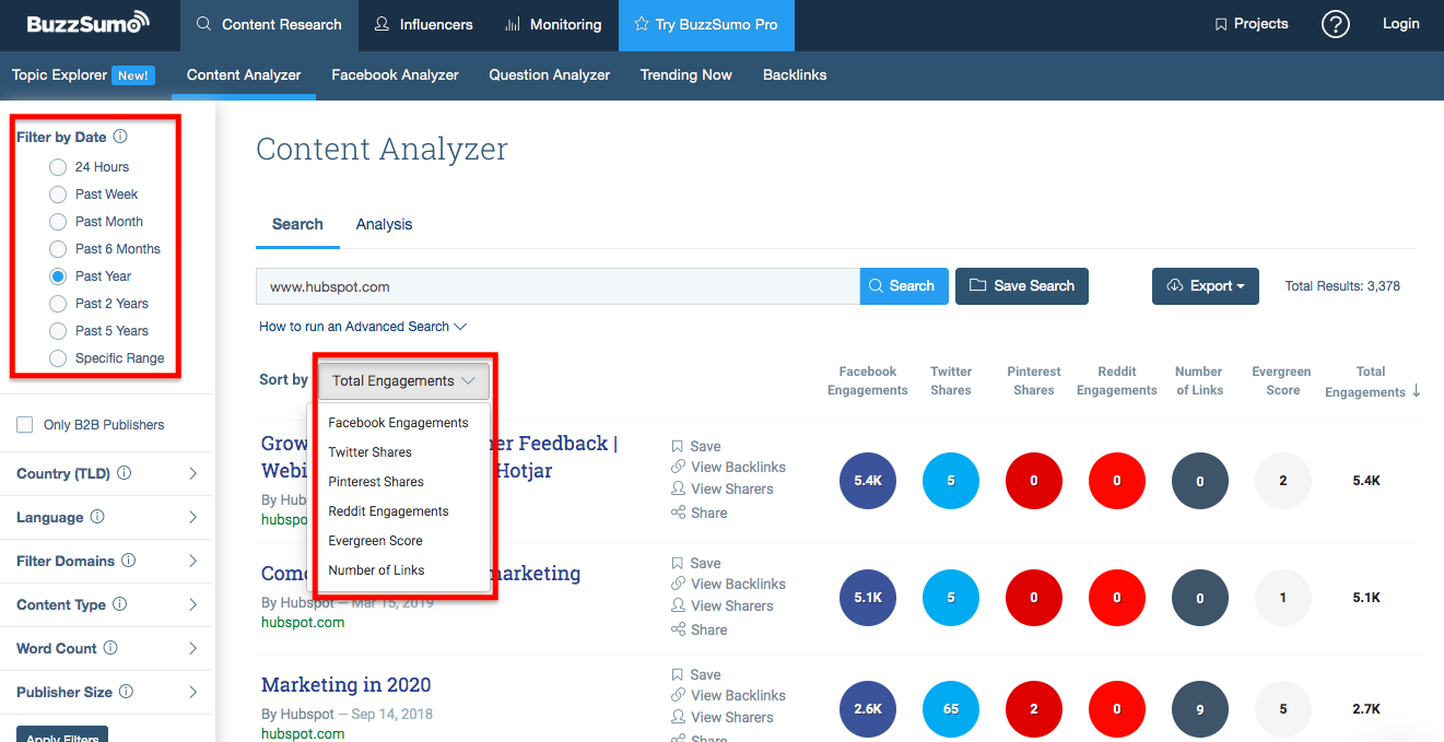 BuzzSumo for HubSpot
