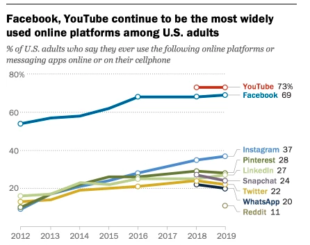 Demographics of Social Media Users in 2019