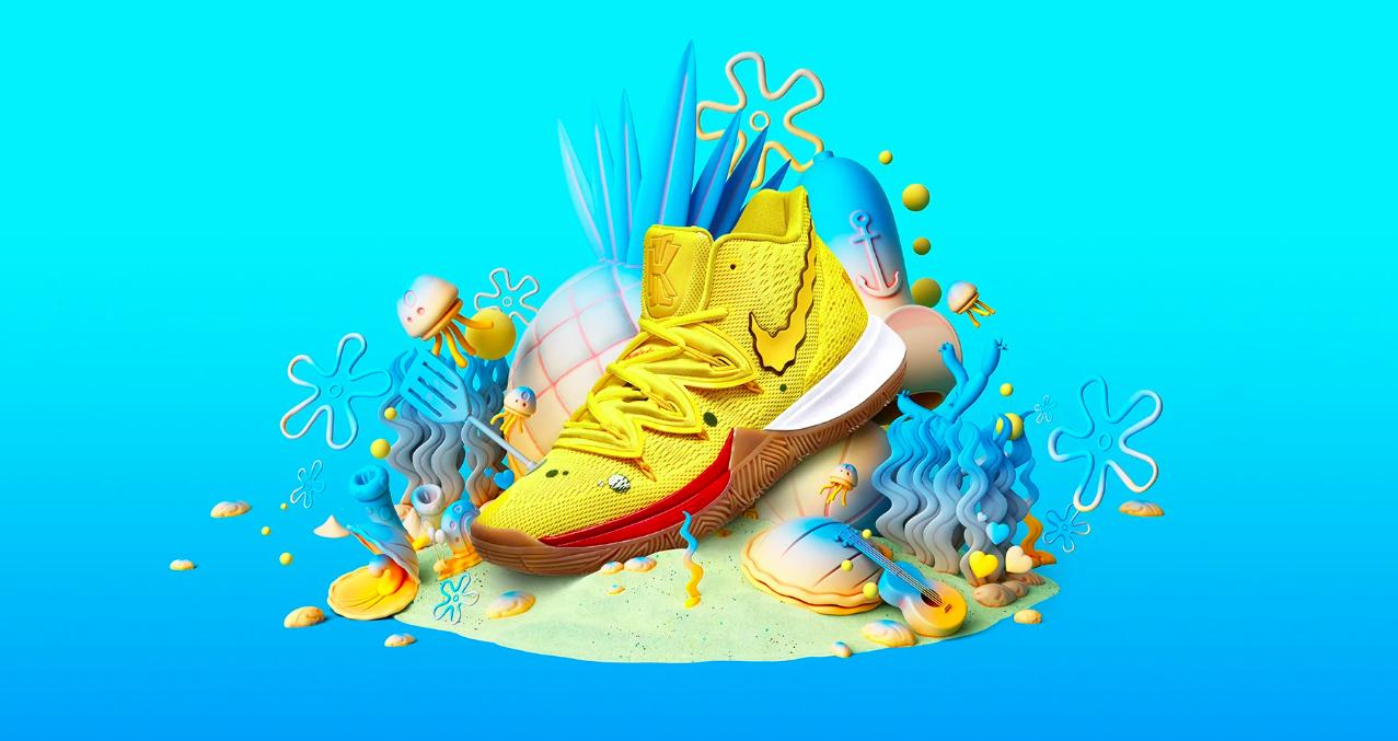 Nike's Sponge Bob Square Pants Sneakers