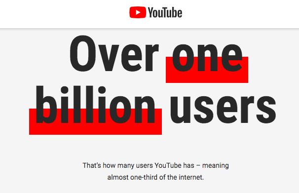YouTube users stats