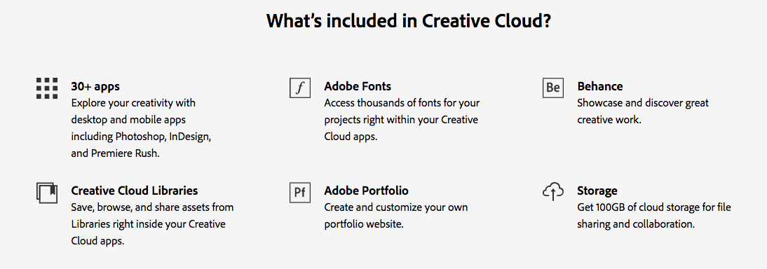 Adobe features