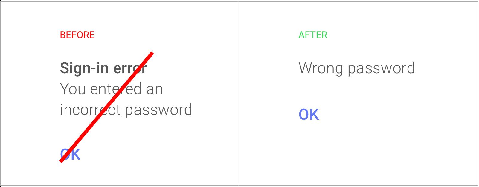 Google frontloading UX copy