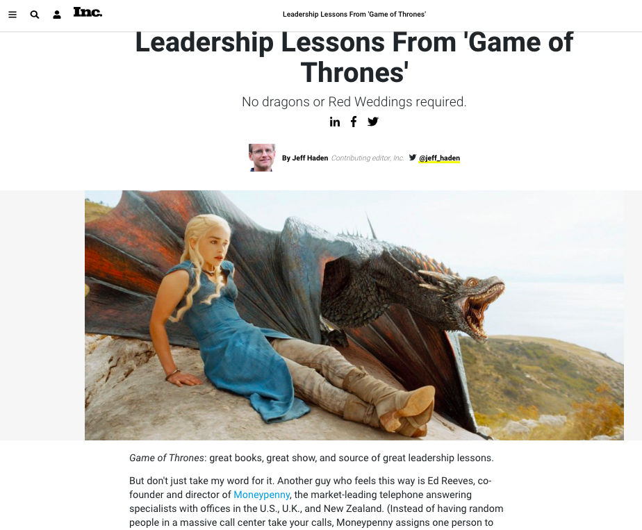Inc - Game of Thrones