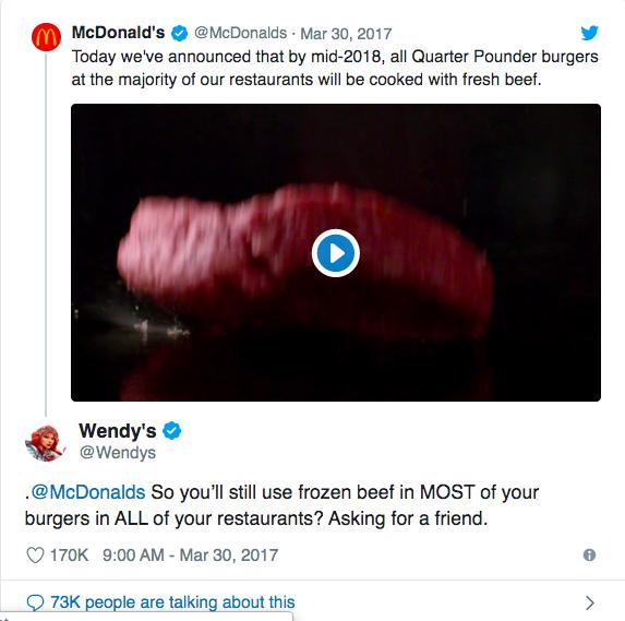 L'arrosto di Twitter di Wendy
