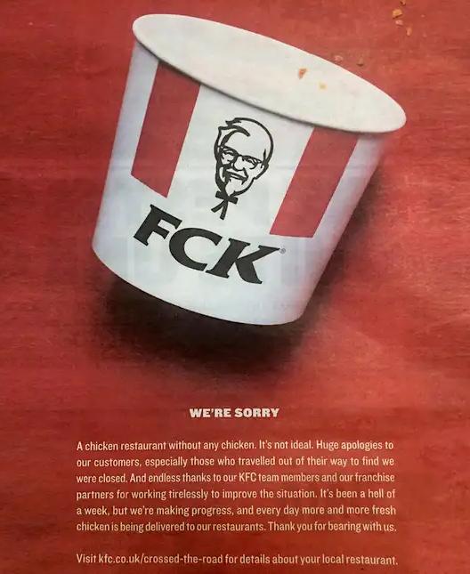 KFC chicken crisis