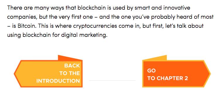 Blockchain a sinistra