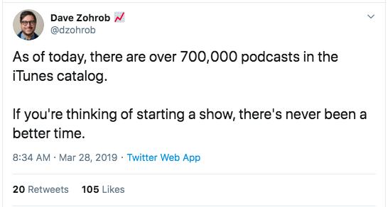 Podcast dell'anno scorso
