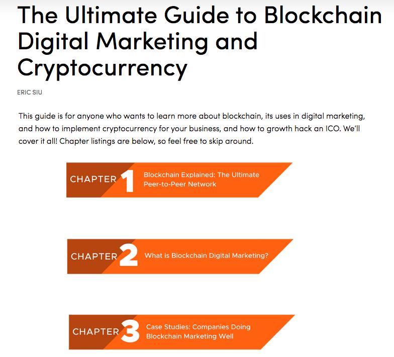 Pagina del pilastro SG Blockchain