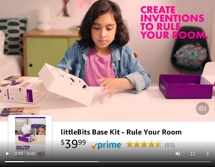 littleBits video in search ad