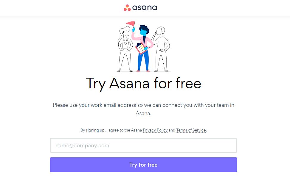 Asana sign up