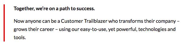 Salesforce aspirational identity
