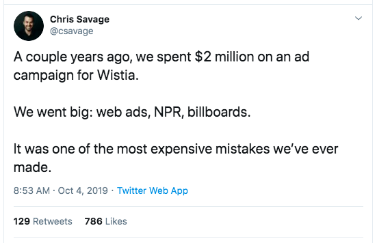 Chris Savage Tweet