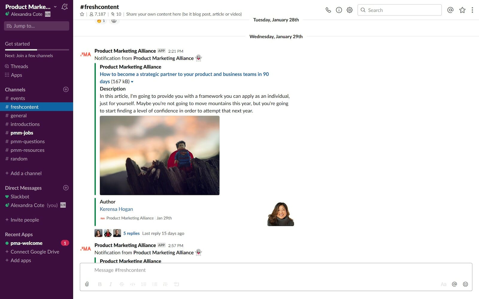 product marketing slack