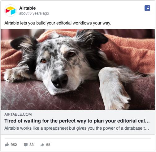 Airtable FB ad