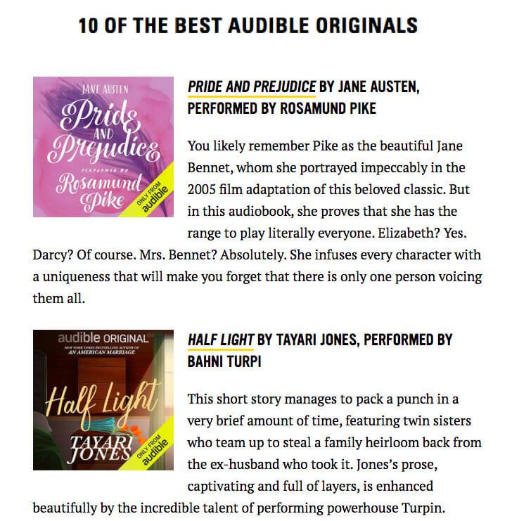 Audible originals list