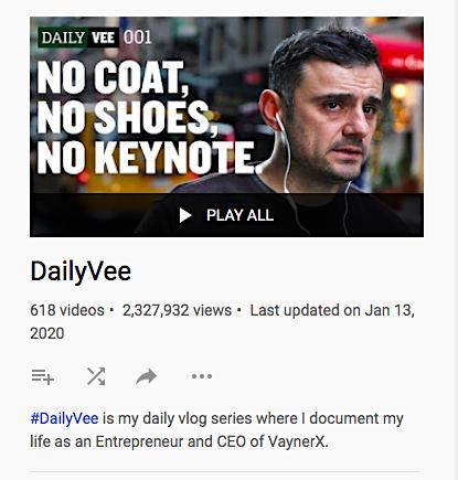 Daily Vee vlog