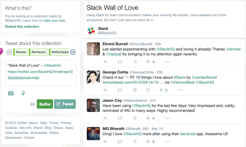 Slack Wall of Love