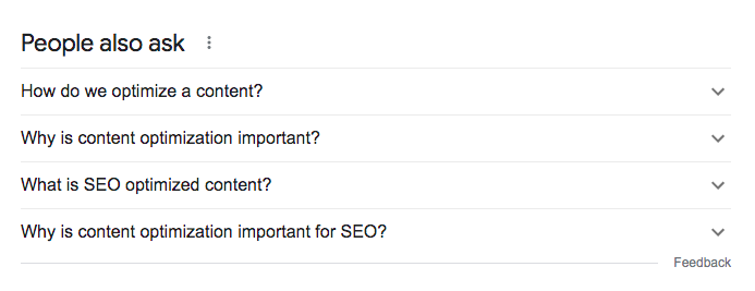Google's People Also Ask