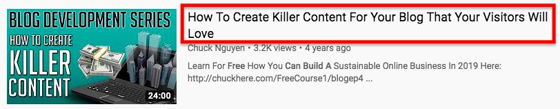 YT killer title