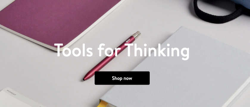 Baronfig Tools for Thinkers High quality paper notebooks pens backpacks