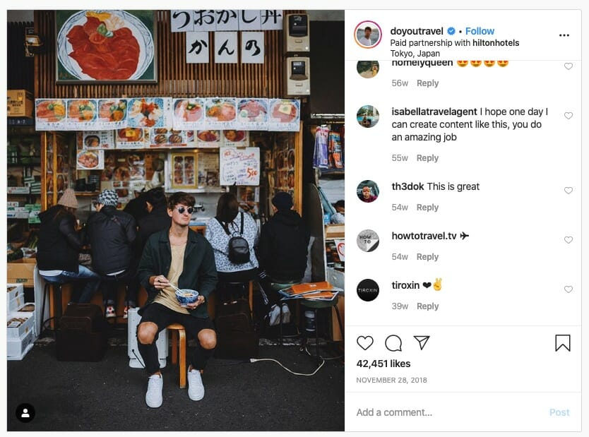 best influencer marketing campaigns of 2020 hilton travel influencer campaign