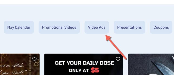 invideo video ad option