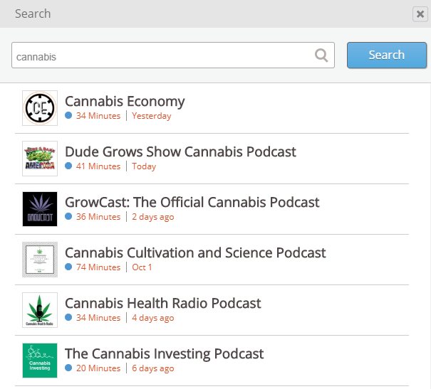 stitcher cannabis podcasts