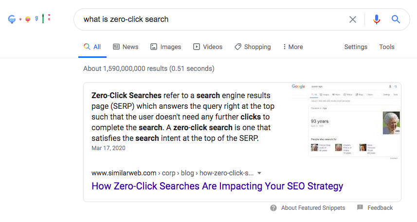 zero-click search