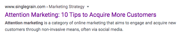Attention Marketing - meta description