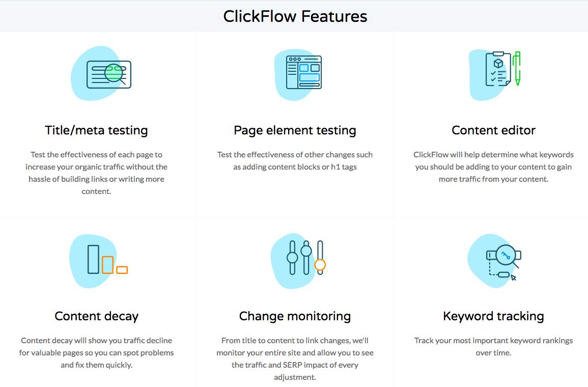 ClickFlow features