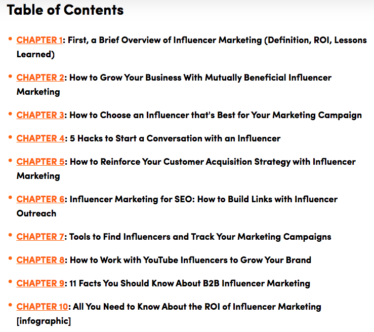 Influencer Marketing TOC