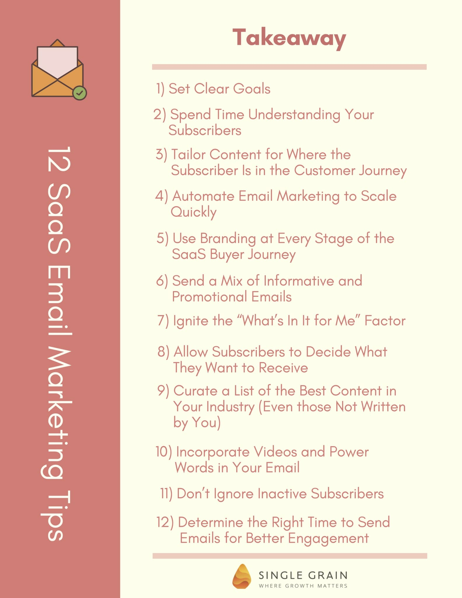 12 SaaS Email Marketing Tips - Single Grain