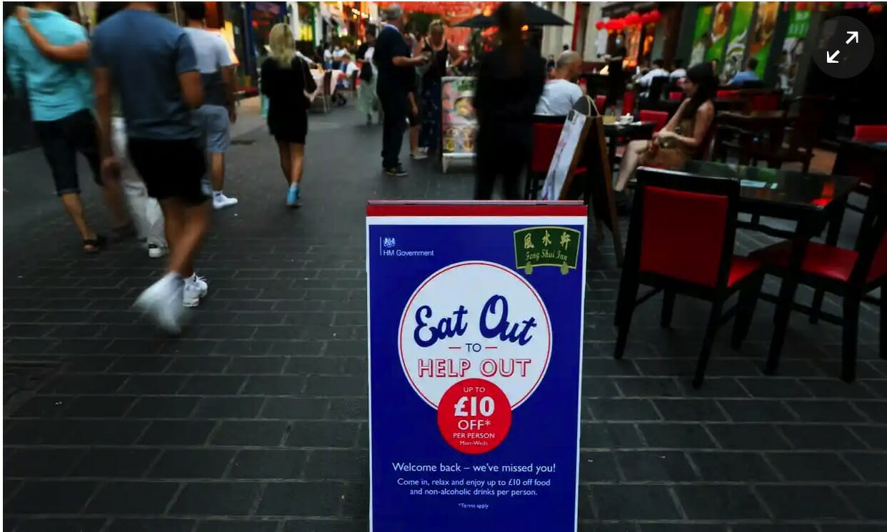 Eat Out to Help out Street