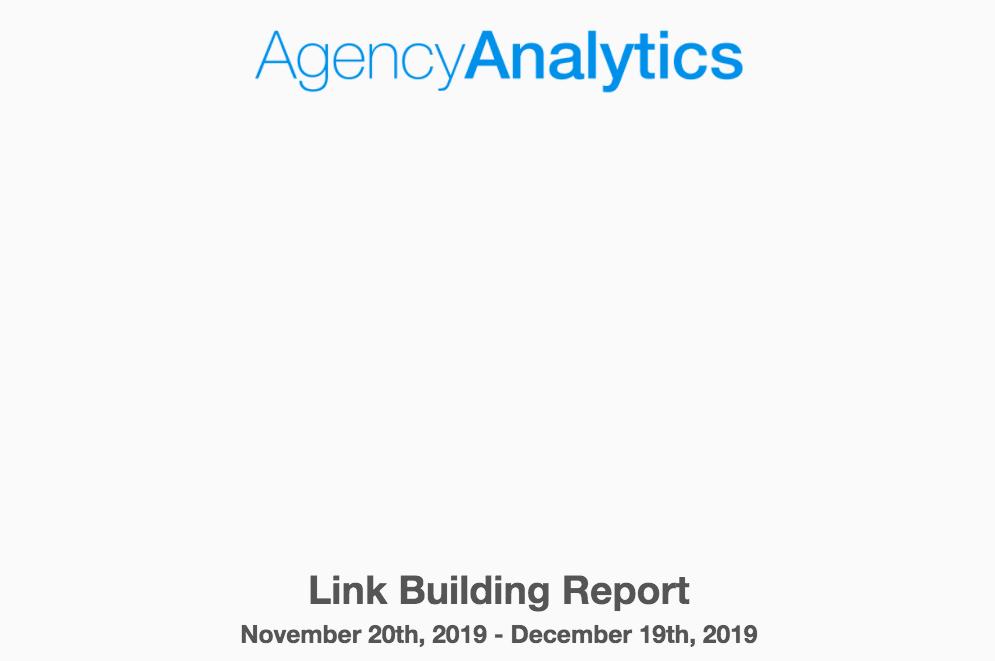 Agency Analytics Report Template