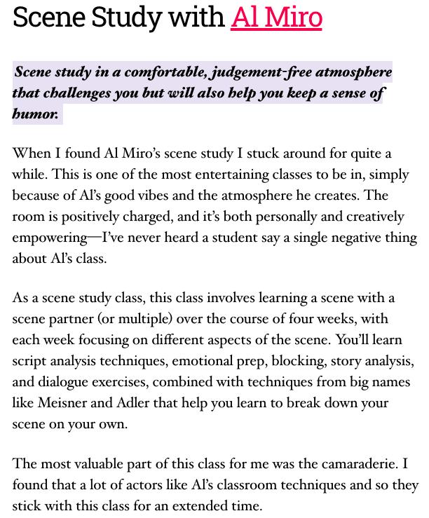 Scene Study with Al Miro(1)