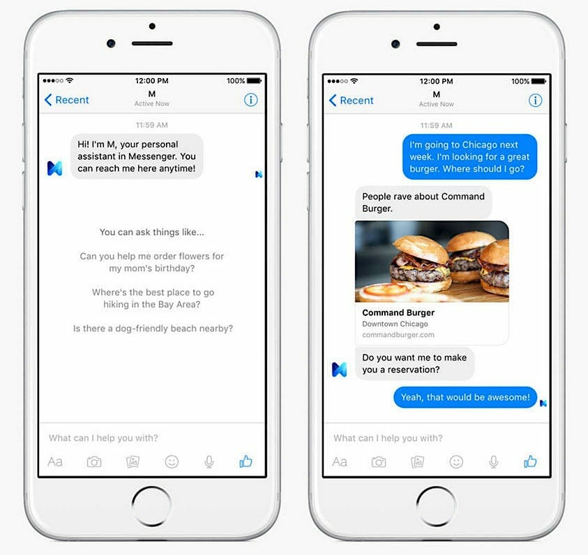 Chatbot ordering
