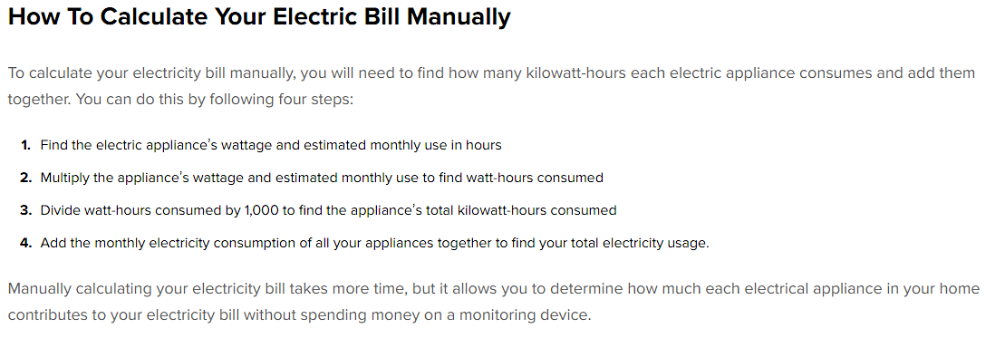 How to Calculate Your Electric Bill Manually