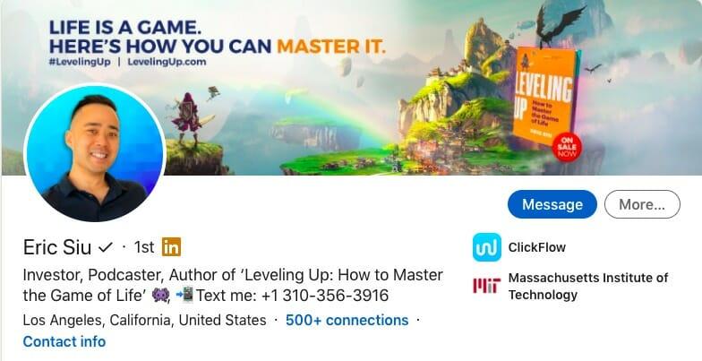 Eric Siu LinkedIn job description