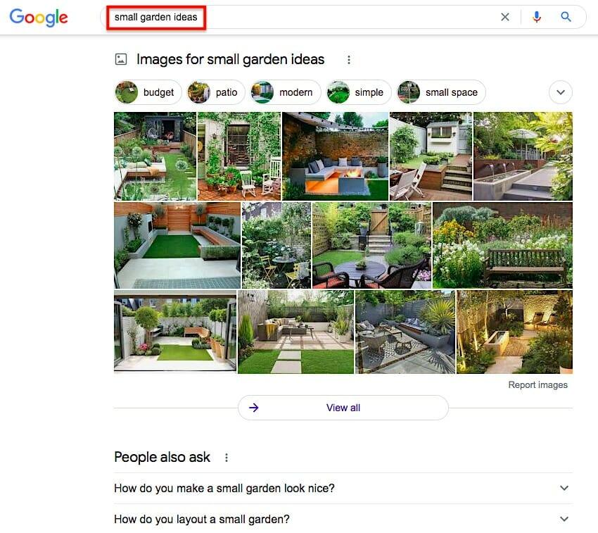 Google Images - small garden ideas
