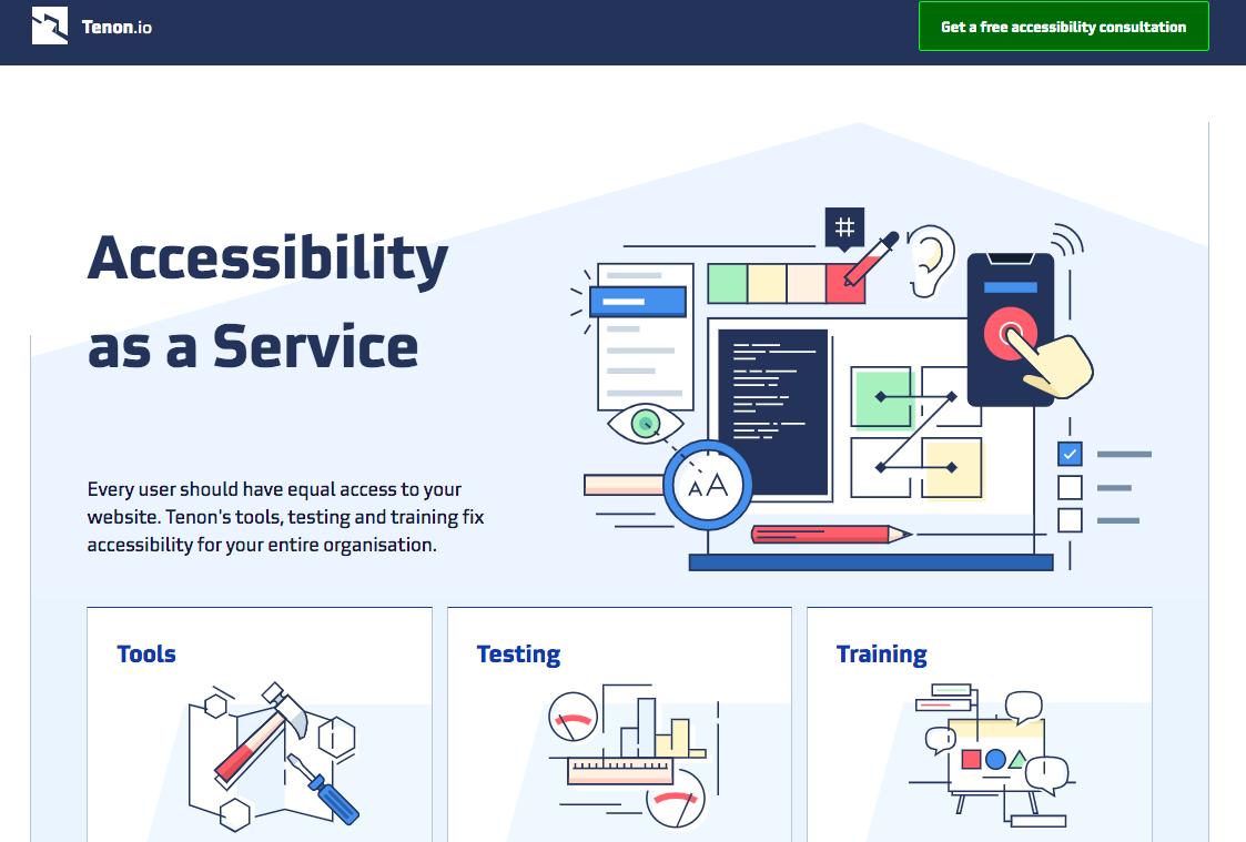 Tenon - web accessibility tools