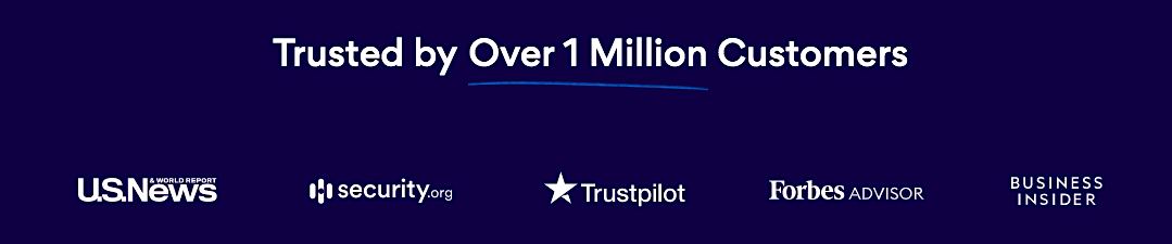 Aura trusted by 1 million customers