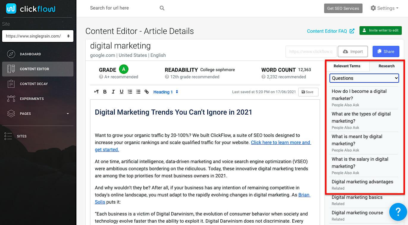 Content Editor Relevant Questions(2)