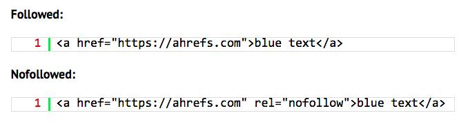 Nofollow vs. follow links in HTML