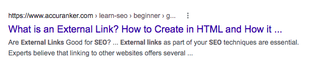 External links with ellipsis